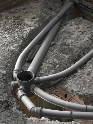 Underground sewer lines need professional cleaning & repair